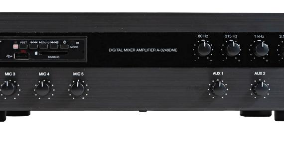 A-3248DME Tăng âm số liền Mixer với MP3 và EQ